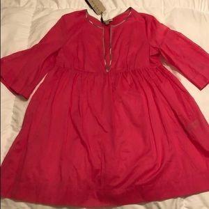 NWT Burberry sheer dress